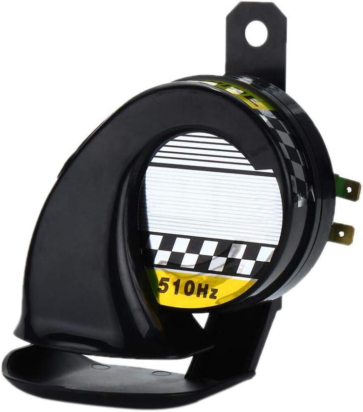 KKmoon 130DB Altavoz Sonido de Bocina de Aire Alarma Advertencia Fuerte Electrónico Cuerno de Caracol Ruidoso Moto Auto Coche