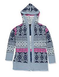 Derek Heart Big Girls' Hooded Cardigan