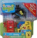 Kooky Kollectibles Wow Wow Wubbzy with Graffiti Kid, Wacky Web and Night Ninja Wubbzy Figures