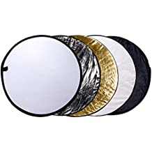 """Etekcity 24"""" (60cm) 5-in-1 Portable Multi-disc Collapsible Photography Photo Reflector"""