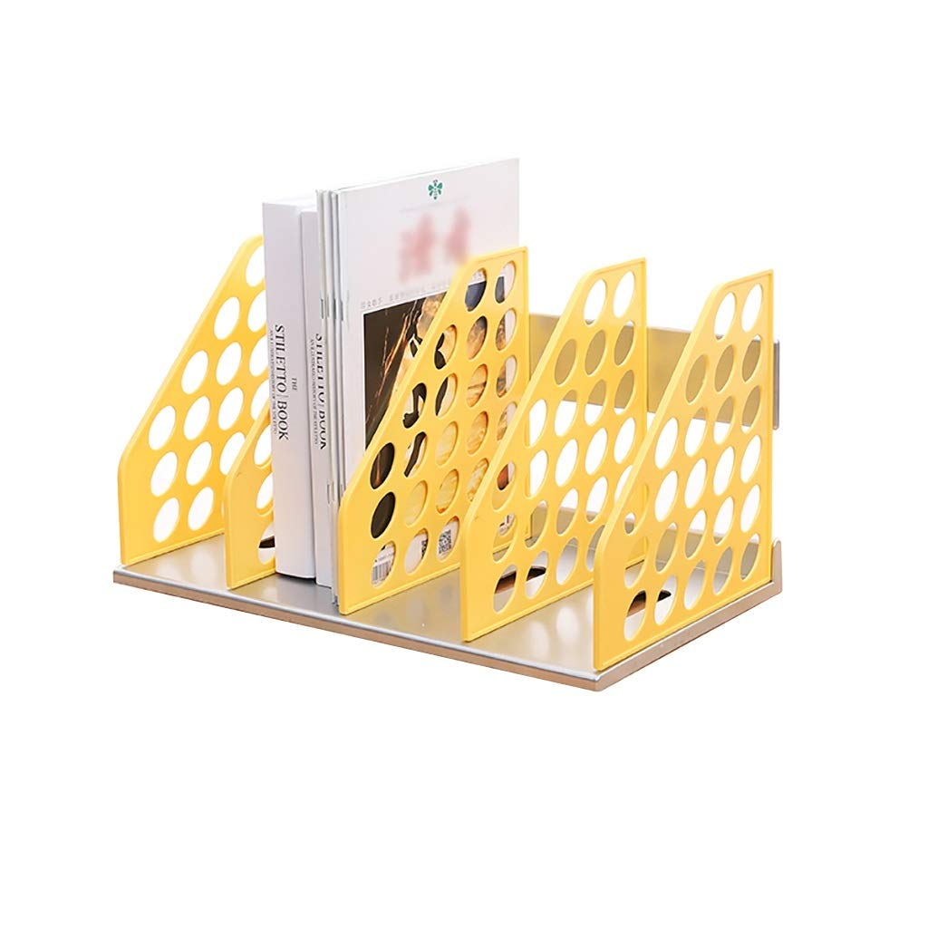 Bxwjg Desk File Organiser 4 Compartments,File Rack Holder for Storing Letter Size File/Magazines/Publication/catalogs and and Any Other Paperwork (Color : A1)