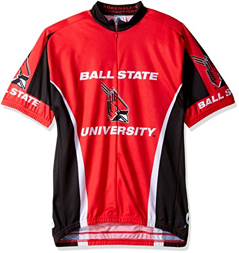 Adrenaline Promotions NCAA Ball State Cardinals Cycling Jersey, XX-Large, Red