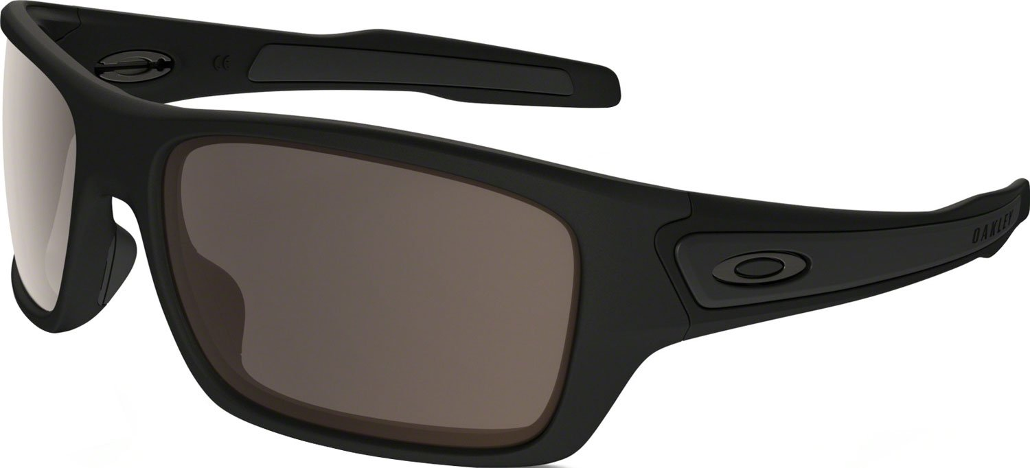 Oakley Boys' Turbine Xs Rectangular Sunglasses, Matte Black, 57.01 mm