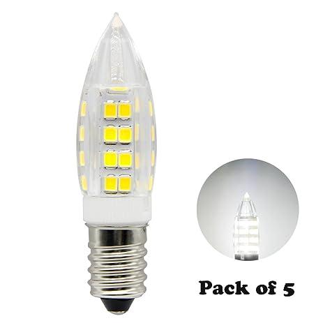 E14 LED Bulbs 5W 120V, 40W Incandescent Bulb Equivalent, Torpedo Tip ...
