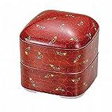 Jpanese traditional ceramic Kutani ware. Oju 3 rooms. Red arabesque. With paper box. ktn-K5-0403