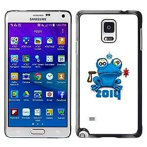 Smartphone Rígido Protección única Imagen Carcasa Funda Tapa Skin Case Para Samsung Galaxy Note 4 SM-N910F SM-N910K SM-N910C SM-N910W8 SM-N910U SM-N910 2014 Frog / STRONG
