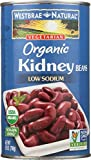 WESTBRAE Natural Vegetarian Organic Kidney Beans, 25 Oz