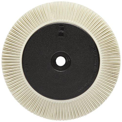Scotch-Brite(TM) Radial Bristle Brush, Aluminum Oxide, 6000 rpm, 8 Diameter x 1 Width, 120 Grit, White (Pack of 1) by Scotch-Brite