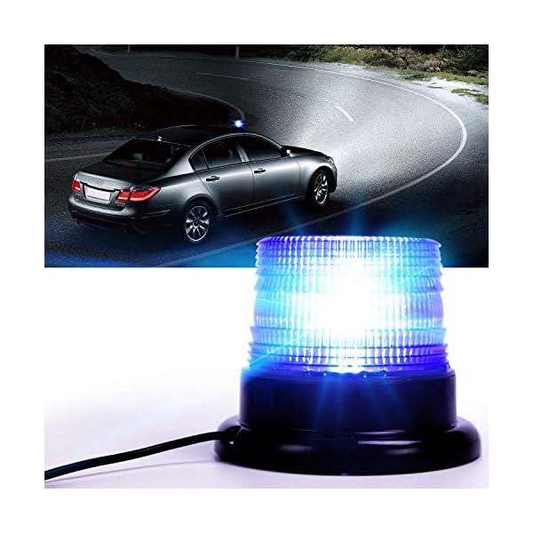 Luz de advertencia 12V LED Baliza Luces magnética Impermeable advertencia de emergencia para vehículo automotor Camión remolque Recargable 5