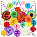 Fiesta Party Decorations 25 Pcs, Mexican Cinco De Mayo Decoration-...