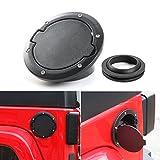Automotive : Fuel Filler Door Cover Gas Tank Cap Cover 4-Door 2-Door for 2007-2017 Jeep Wrangler JK & Unlimited (Black)