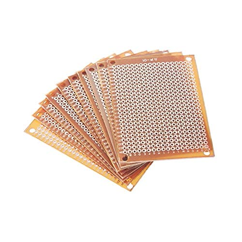 10Pcs DIY Prototype Paper PCB Universal Experiment Matrix Circuit Board 5x7cm CreameBrulee