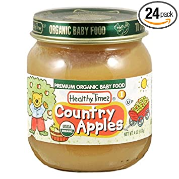 Healthy Times Premium Organic Baby Food, Country Apples 1, 4-Ounce Jar (