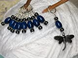Dragonfly Knitting Jewelry Set- Gift for Knitters