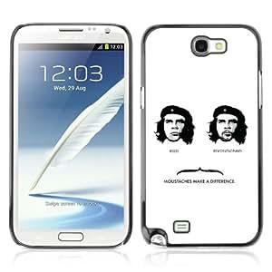 CQ Tech Phone Accessory: Carcasa Trasera Rigida Aluminio Para Samsung Galaxy Note 2 N7100 - Cool Che Guevara & Moustache