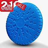 Homesupplier Dogs Toys 2 IN 1 Flying Discs Indestructible (Blue)