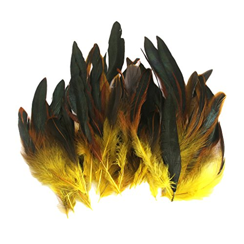 Wholesale 50 beautiful feathers 12-18cm / 4-7inch Yellow