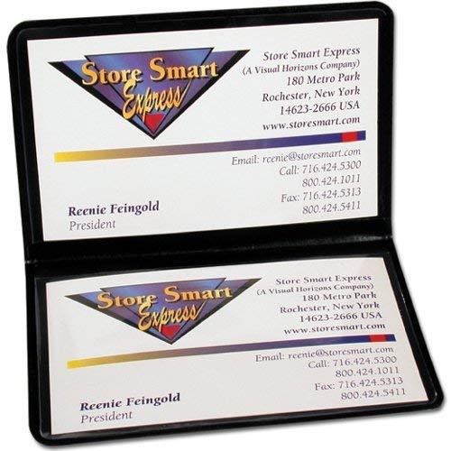 (StoreSMART Black Folding Business Card Holders - 10 pack - Polypropylene Plastic (RPP2915BK10))