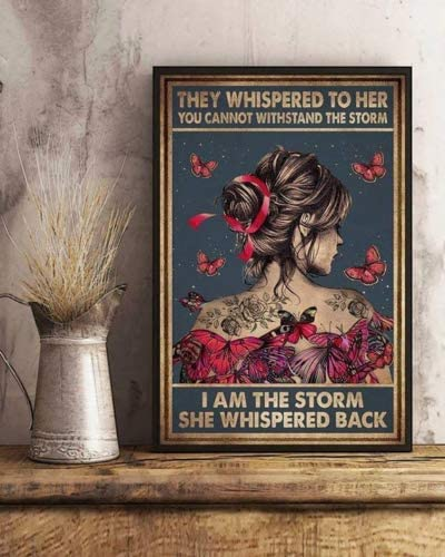 no frame I Am The Storm Horizontal Poster Wall Decor Poster