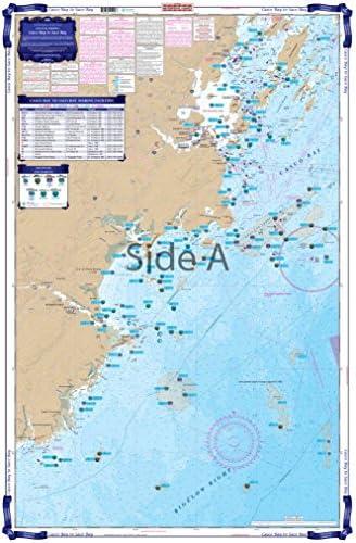 Waterproof Charts, Coastal Fishing, 101F Casco Bay to Saco Bay Maine