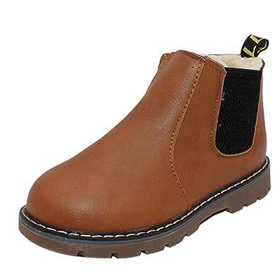 1d5efafedd2af uirend Chaussures Garçon Fille Bottes et Bottines - Martin Fermeture à  glissière Réchauffer Enfant Automne Hiver