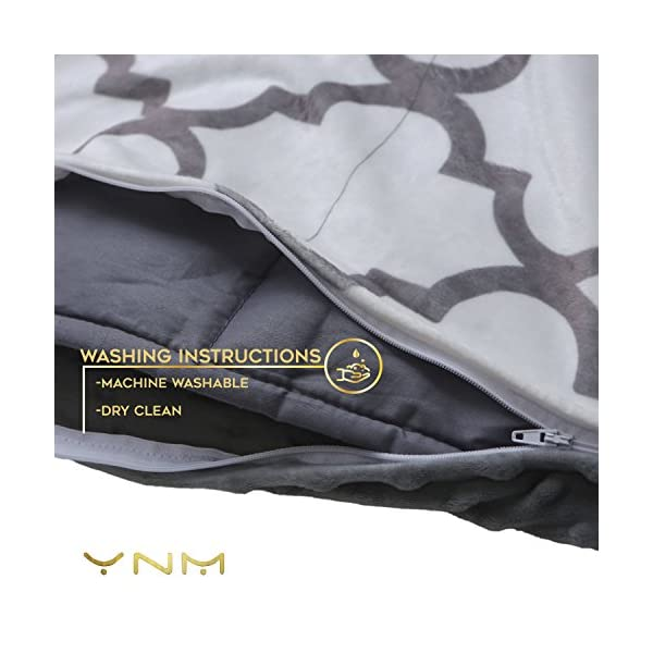 YnM-Weighted-Blanket-15-lbs-48×72-Twin-Size-Gravity-20-Heavy-Blanket-100-Cotton-Material-with-Glass-Beads-Great-Sleep-Therapy-for-People-with-Anxiety-Autism-ADHD-Insomnia-or-Stress
