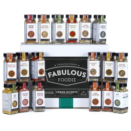 Urban Accents Fabulous Foodie Ultimate Spice Collection Gift Set by Urban Accents