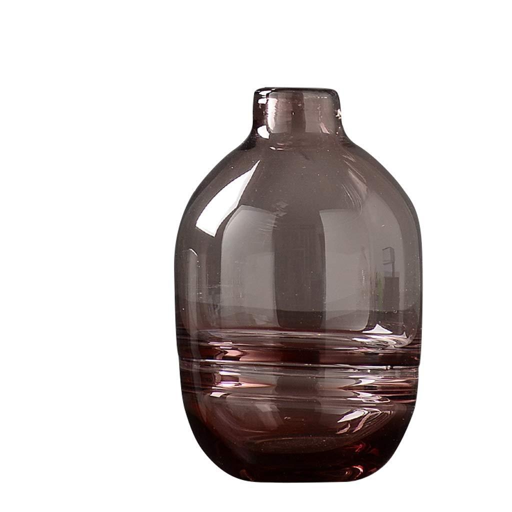現代のシンプルな透明なガラス花瓶の装飾リビングルームプラグドライフラワー装飾 anQna (形状 けいじょう : 4) B07SCY5R68  4