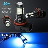 H11 Headlight/Fog LED/Day Time Running Light Bulb 444 lumen 40Watt Ice Blue, 2 bulbs