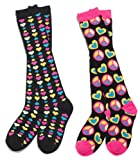 Three Cheers for Girls 72065 Hearts and Peace Knee Socks