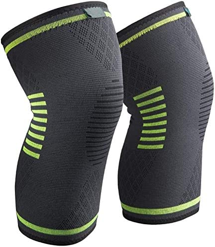 Knee Brace Compression Sleeve - Best Knee Brace for Knee Pain for Men & Women Runners Knee, Arthritis, Running, Offers Superior Compression and Support for All Lifestyles - Pair