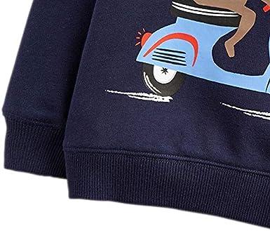Edjude Boys Girls Clothing Long Sleeve Sweatshirt Crew Neck Hoodies T-Shirt Jumper for Kids Unisex Top 1-7 Years