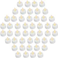 Bargain Outlet Velas LED tipo té sin llama, parpadeantes y brillantes; funcionan con pilas (incluidas), color amarillo…