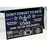 Louisville Marketing Uber Lyft Tip and Rating Signs for Rideshare Drivers Large 5x8 inches | 2 Signs | Durable & Thick Laminate | Increase Your Earnings