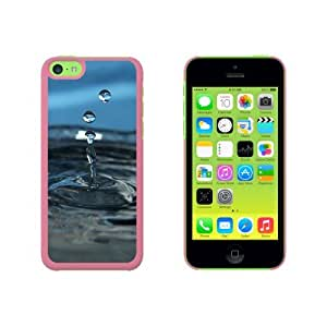Drop of Water - Droplets Rain Raining Snap On Hard Protective Case for Apple iPhone 5 5s - Pink
