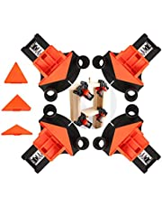 Corner Clamp Angle Clamps Kits for Woodworking,4Pcs Angle Clamps Fixing Clips Single Adjustable Corner Clamps