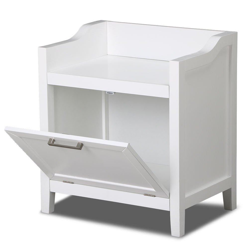 New White Cabinet Storage Stand White Wood Furniture Organizer Kitchen Bath Bathroom Floor by totoshopcabinet