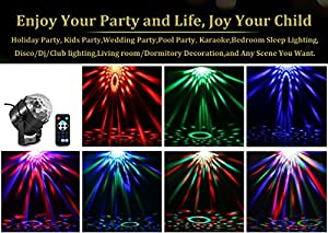AOMEES Disco Party Strobe DJ Club Lights Show Auto Sound Actived Toy Lights for Kids Birthday Party Bar DJ Ballroom Home Club Wedding Dancing Show Kids Birthday Gifts Or Children's Night Lights