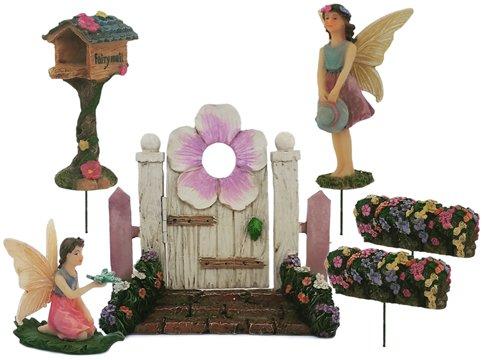 Fairy Garden Accessories Ornaments Outdoor - Includes Six (6) Piece Set (Garden Kit Craft)
