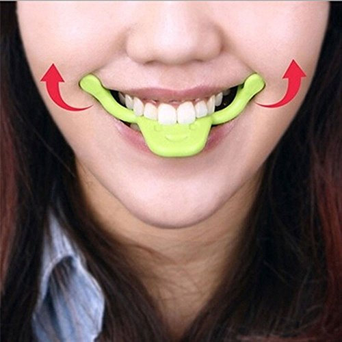 Tmalltide 2 Pcs Silicone Smile Trainer Smile Brace Face Line Muscles Stretching Lifting Training Mouth Smile Maker Facial Messager