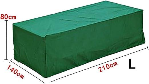 logei Funda para Muebles de Jardín Protectora para Mesas de Jardín Funda Muebles Terraza Rectangular Juego de Muebles, Verde Oscuro, 210x140x80cm: Amazon.es: Jardín