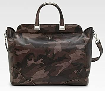 1cde9255853b Image Unavailable. Image not available for. Color  Prada Saffiano  Camouflage Unisex Style Tote Bag - 100% Authentic