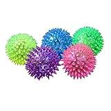 Iuhan 1PC Puppy Dog Cat Pet Hedgehog Rubber Ball Bell Sound Ball Fun Play Toy (Color Random)