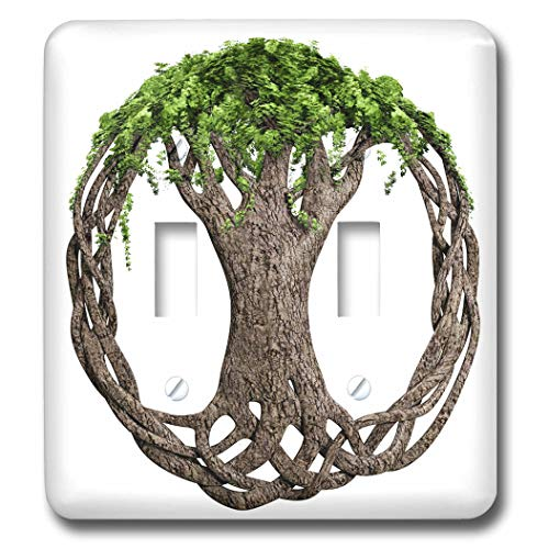 3dRose MacDonald Creative Studios - Celtic - A tree of life symbol, a popular Irish and Celtic symbol. - Light Switch Covers - double toggle switch (lsp_295361_2) (Symbol Switch)