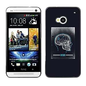 Be Good Phone Accessory // Dura Cáscara cubierta Protectora Caso Carcasa Funda de Protección para HTC One M7 // Skull Brain Anatomy Biology Human