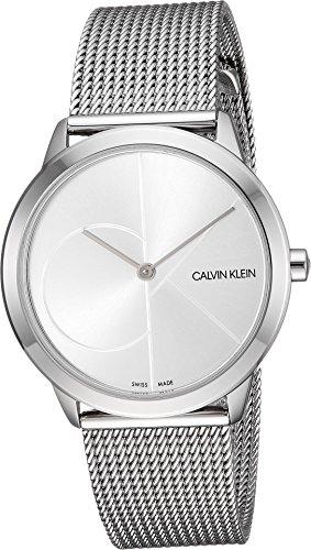 Calvin Klein Unisex Minimal Watch - K3M2212Z Silver One (Calvin Klein Mens Bracelet)