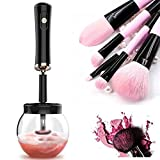 BUENAVO Makeup Brush Cleaner Makeup Brush Dryer Machine, Electric Spinning 360 Rotation Completely Clean in Seconds 8 Rubber Holders, Balck