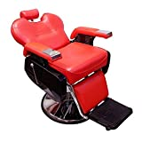 Real Relax Salon Hydraulic Recline Barber Chair Beauty Shampoo Spa chair All Purpose Red