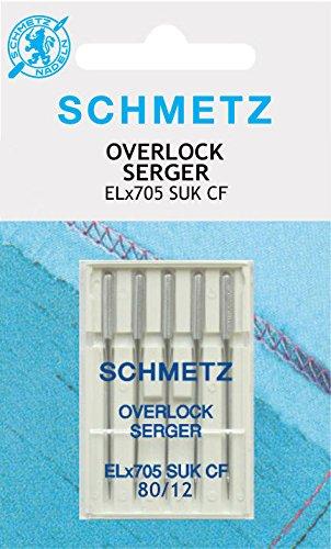 Schmetz - Agujas para máquinas de coser Overlock ELx705CF 80/12SUK