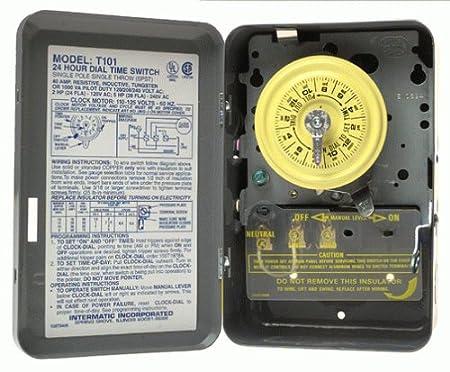Fabulous Intermatic Tmhdt101 T101 Electromechanical Timer 125 V 40 A 1 23 Wiring Digital Resources Unprprontobusorg